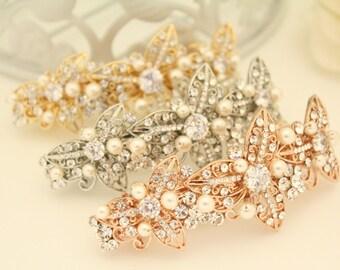 Crystal Wedding Barrette,Bridal Comb Crystal,Wedding Crystal Hair Comb,Hair Barette,Wedding Accessory,Crystal Wedding Barrette,Bridesmaid