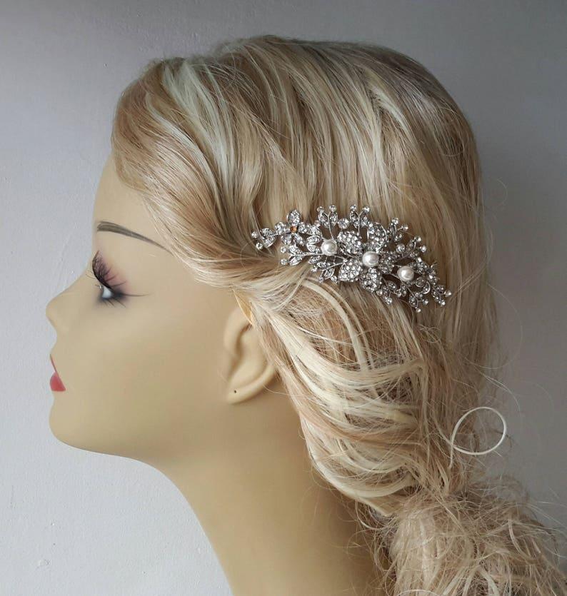 Headpieces Birdcage Veil, - Bridal Headpiece 2 Items Bridal Comb Hair Comb and a Birdcage Veil - Weddings comb,Blusher Bird Cage Veil