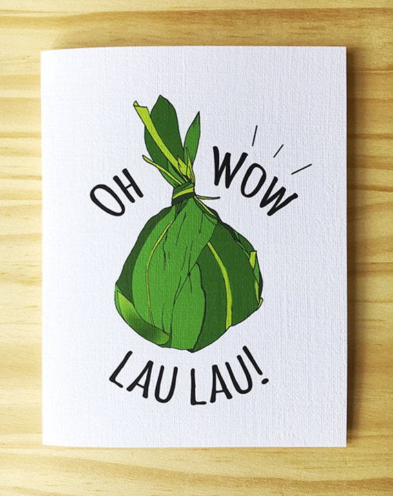 Oh Wow Lau Lau Greeting Card Etsy