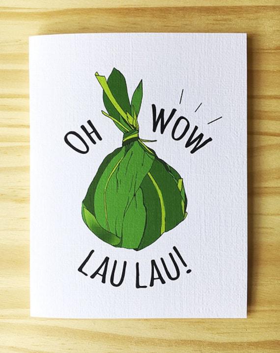 Oh Wow Lau Lau Greeting Card Etsy