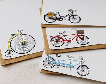 Bicycle Flat Note Cards- Set of 8