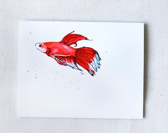 Betta No.05- Blank Card