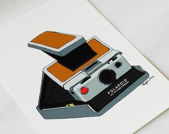Polaroid sx70 Camera- 5x7 Print