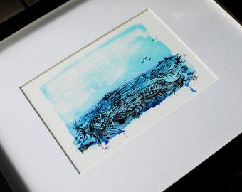 Watercolor Waves- 5x7 Print