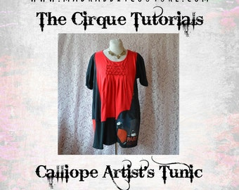 Digital Tutorial The Calliope Tunic Dress PDF Pattern Plus Size Lagenlook Top TUTORIAL ONLY