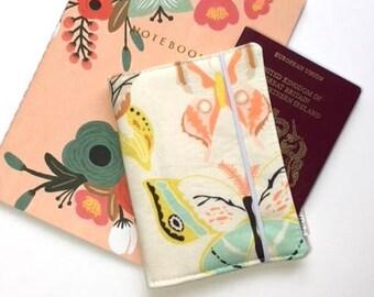 Passport Cover, Travel Organizer, Travel Wallet, Passport Holder, Passport Wallet, Gift for Traveler - Wingspan Melon