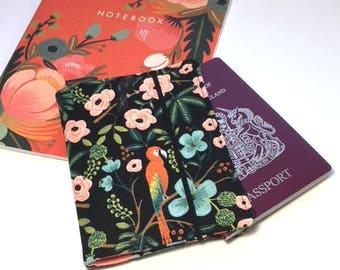 Passport Cover Rifle Paper Co, Travel Organizer, Travel Wallet, Passport Holder, Passport Wallet, Gift for Traveler Paradise Garden Midnight