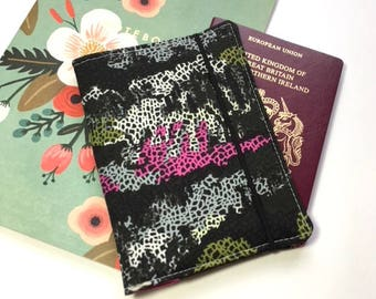 Passport Cover, Travel Organizer, Travel Wallet, Passport Holder, Passport Wallet, Gift for Traveler - Camouflage Mimicries