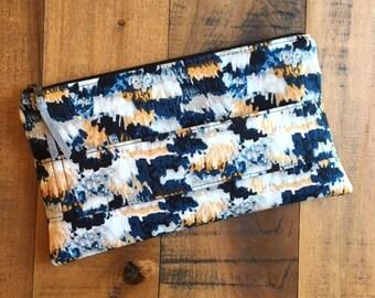 Amelia Clutch in Fringe. Evening Clutch Bag. Modern Handbag. Cosmetic Bag.