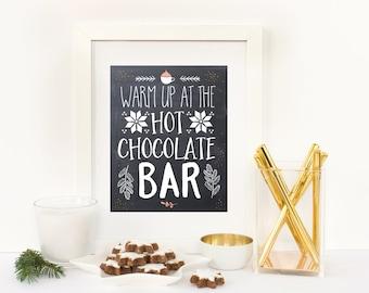 Hot Chocolate Bar Sign, Hot Chocolate Bar Print, Hot Cocoa Bar