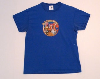 6283363f Fraggle Rock T shirt 1990s Vintage I'm A Fraggle Rocker Character Top Jim  Henson Glitter Logo Size Extra Small Youth Large - Plattermatter