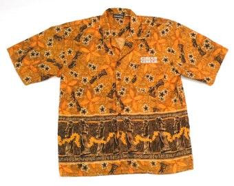 3f6aa1d6 Easter Island Shirt 1990s Vintage Circus Circus Moai Hawaiian Shirt Tiki  Statue Aloha Shirt Polynesian Retro Luau Party Petroglyphs Tribal