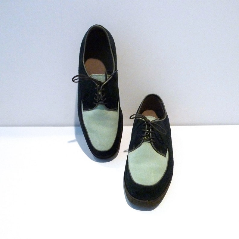 23d47091a2ab7 Hush Puppies Shoes for Men Vintage Two Tone Oxfords Size Green