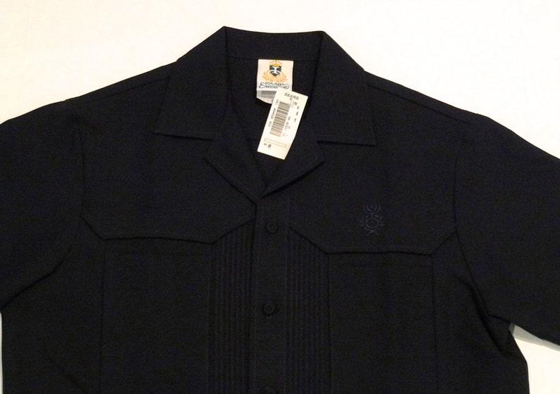 5750c3d2 Hawaiian Shirt Vintage Dark blue Iolani Tiki Shirt Mens Medium | Etsy