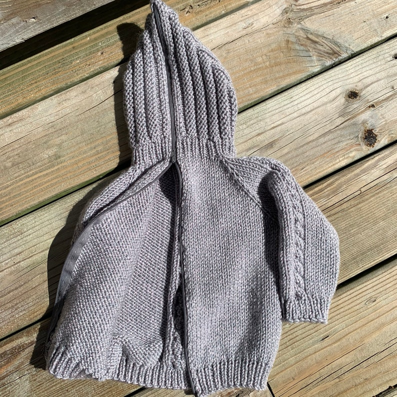 infant hooded zip up sweater 12-18 month