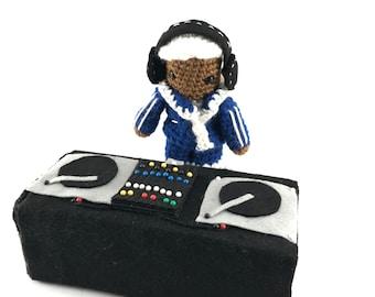 Custom Crochet DJ with decks