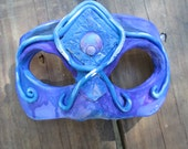 Halloween Costume, hand painted, one of a kind, warrior, masquerade mask, half face