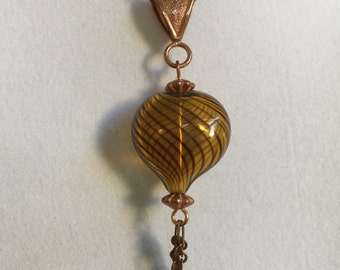 Italian Blown Glass Heart Necklace