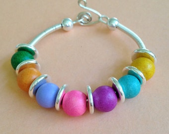 Bead  Bracelet with Summer Colors