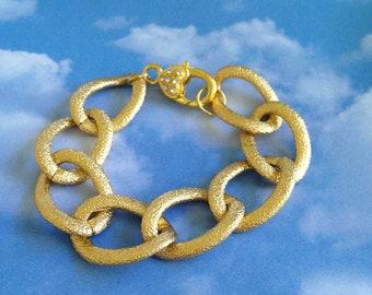 Bridal Gold and Crystal Bracelet