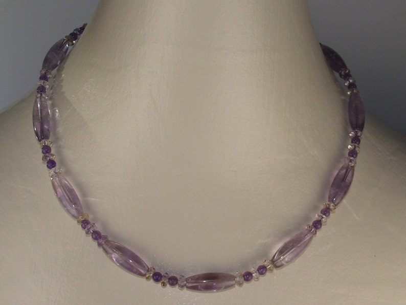 Armetrine and amethyst necklace and earrings set
