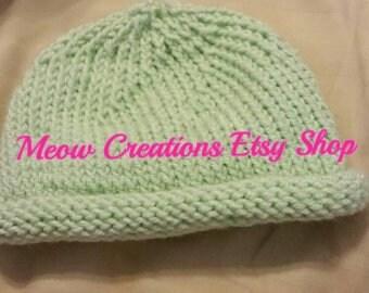 MTO Newborn Knit Roll Brim hat 0-3 months Take Home Hat Hospital Hat  Newborn Hat Baby Shower Gift New Baby Gift knit baby hat Gender Neutral 69ed79cc7d2f