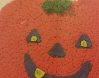 Made to Order- Pumpkin Bib Handmade Infant Baby Drool Feeding Style Bib  Crocheted by Meow Creations 6da27697c558