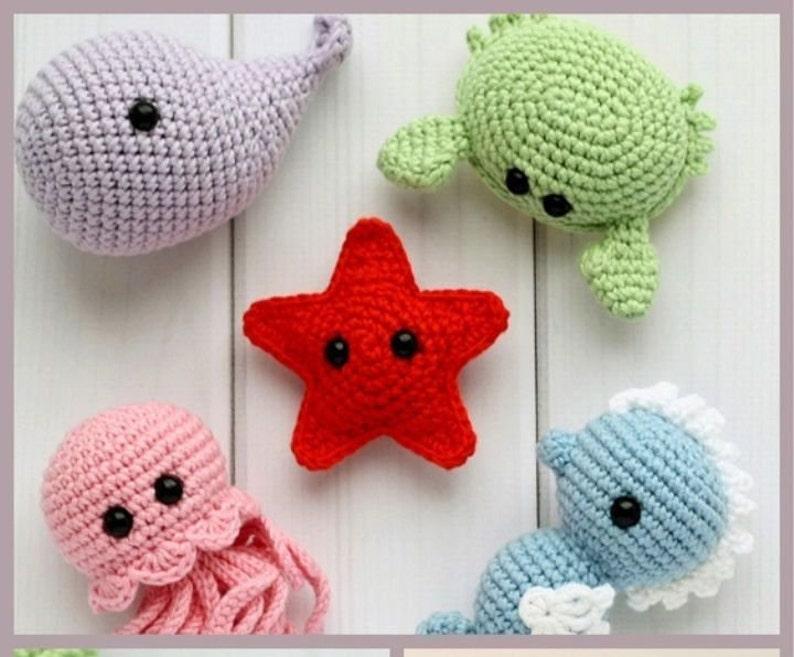 Made to Order Mini Jellyfish Amigurumi Tiny Jellyfish Stuffed animals Stuffed animal Ocean animals Jellyfish plush Stuffed Jellyfish