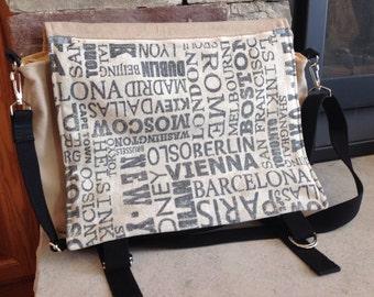 Cities messenger bag