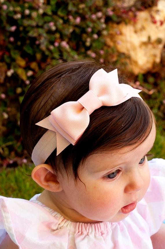 Baby Bow Set of 6 Baby headband Large Bowtie Bow Headband  0e670d5310b