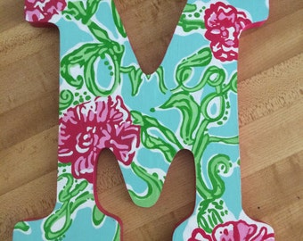 Lilly Pulitzer Inspired Letters