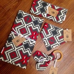 SALE 30% OFF. Red and Grey Aztec Baby Blanket. Blanket for Baby and Toddler. Gender Neutral Nursery.