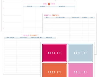 The Ultimate Organizing Project Planning Printable Kit - INSTANT DOWNLOAD - PDF