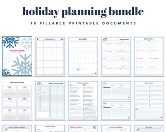 Holiday Planning Printable Kit - INSTANT DOWNLOAD - PDF