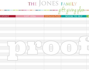 Personalized Gift Giving Printable