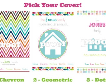 "Personalized Household Binder ""Everything"" Printable Kit"