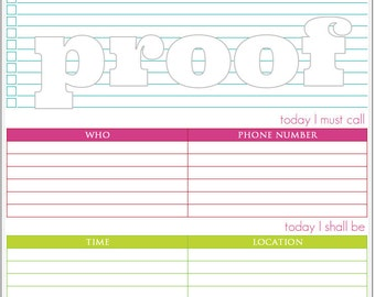 Daily Goals/Daily To Do List Printable PDF