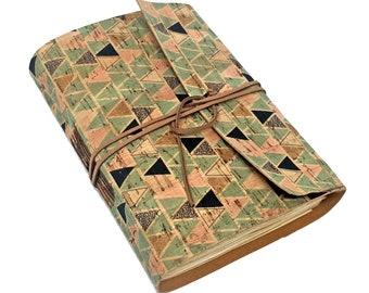 Cork Vegan Journal with Blank Paper. Leather Alternative. Eco-Friendly Journal.