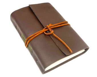 Brown Leather Journal with Blank Paper