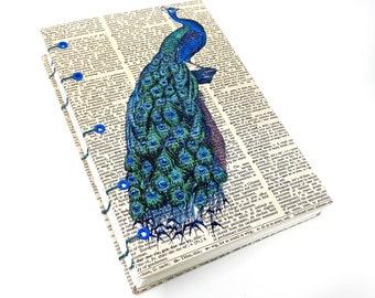 OOAK Coptic Bound Book Art Journal. Vintage Book