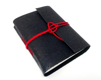 Vegan Handbound Journal with Blank Pages. Cork. Leather Alternative. Ready to Ship. Vegan. Eco-Friendly Journal