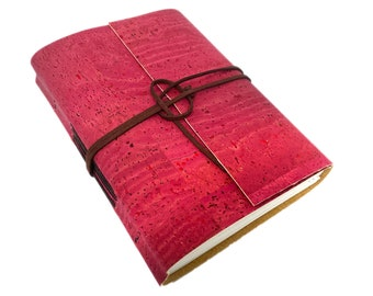 Vegan Handbound Journal with Lined Pages. Cork. Leather Alternative. Ready to Ship. Vegan. Eco-Friendly Journal