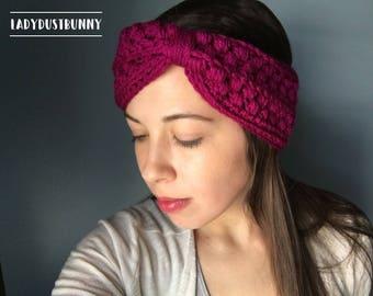 Crochet Headband / knit headband / knitted headband / Turban Headband