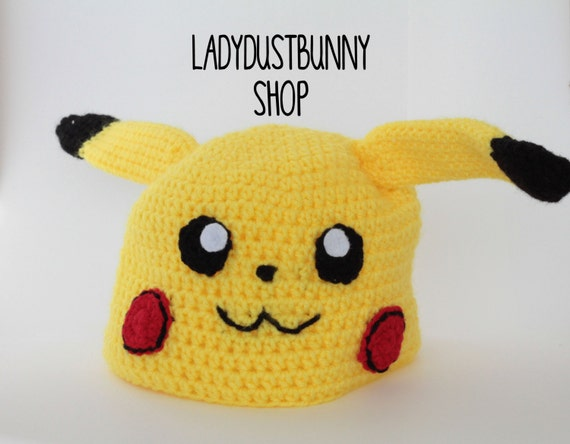 Pikachu Hat Crochet Pikachu Pikachu Toy Pokemon Hat Etsy