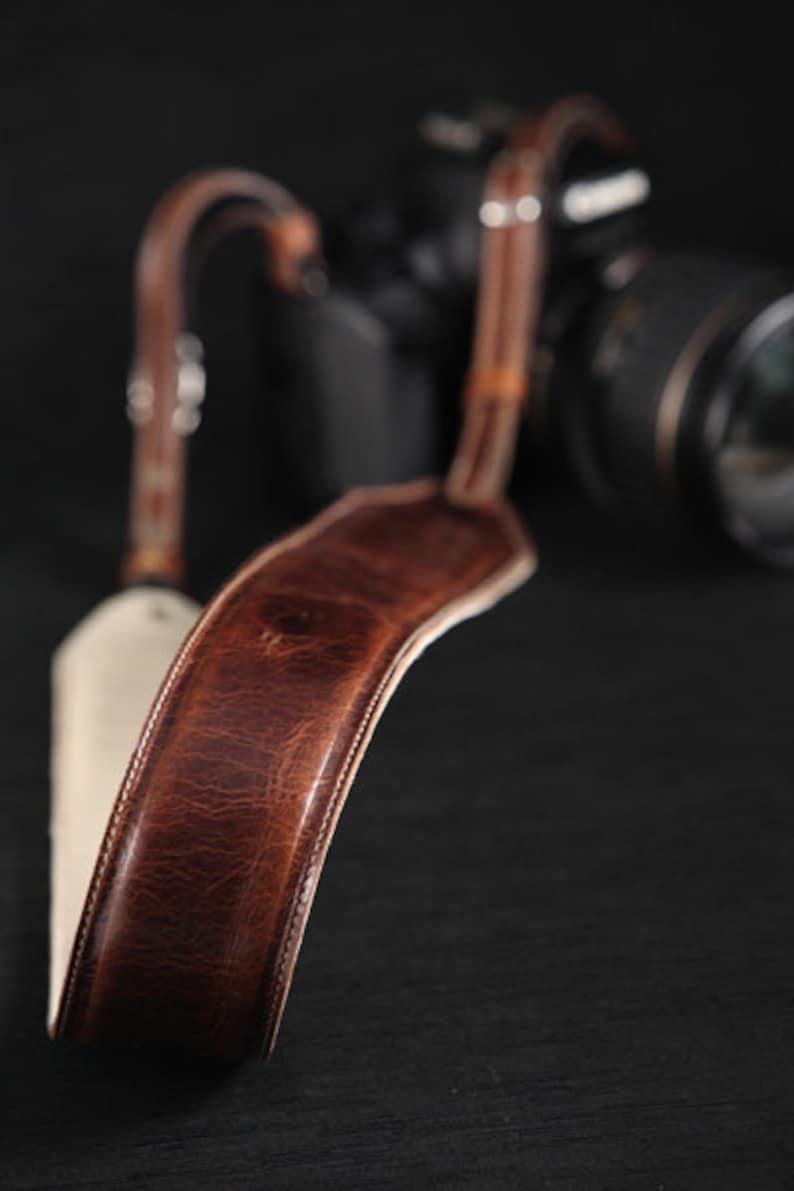 Leather Camera Strap:  Hemingway Camera strap image 0