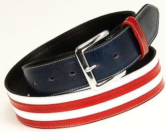 Leather Belt, Patriotic Belt:  Old Glory Belt