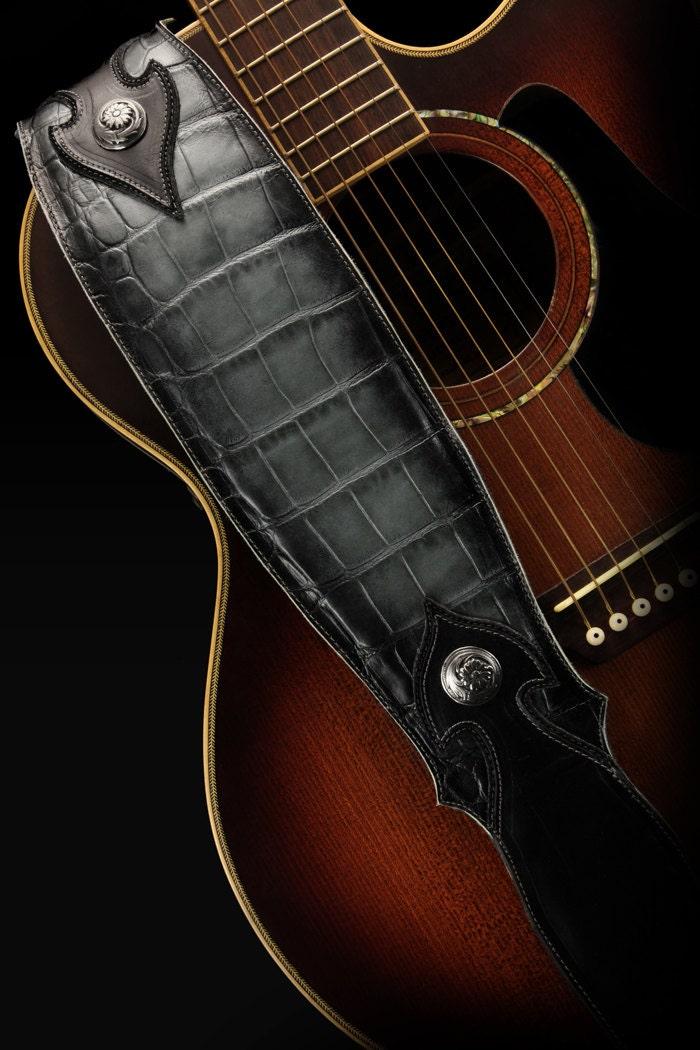 custom leather guitar strap imperial shadowfall guitar strap etsy. Black Bedroom Furniture Sets. Home Design Ideas