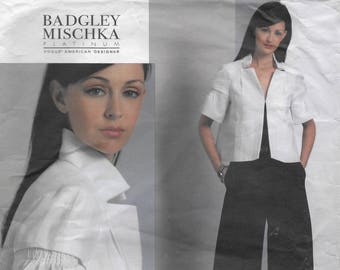 Vogue American Designer Badgley Mischka 1099 Misses' Jacket and Pants Sewing Pattern Size 16 to 22 Bust 38 to 44