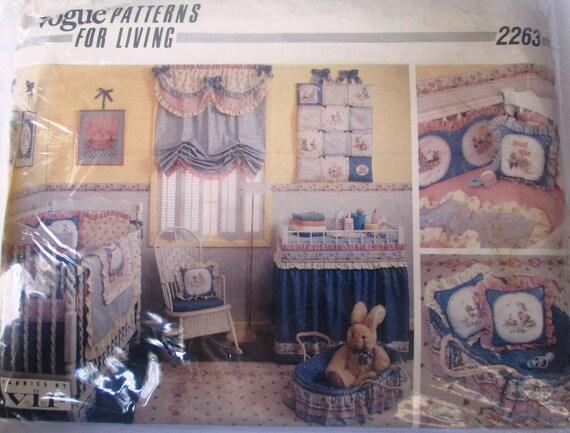 Vogue 2263 baby 80er jahre kindergarten zimmer quilt etsy