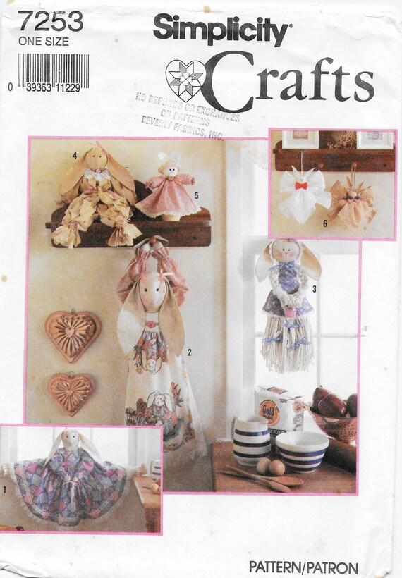 Simplicity 7253 Bunny Bazar Craft Sewing Pattern Bunny | Etsy